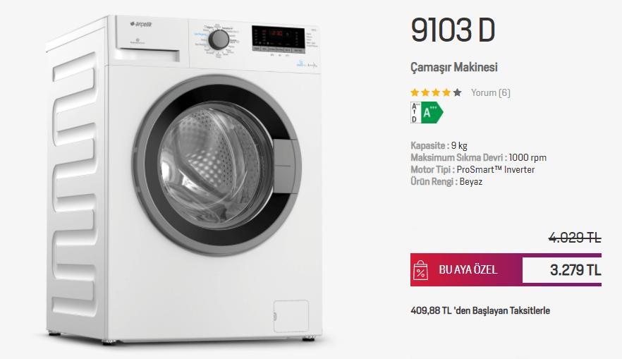 arcelik-9103D-camasir-makines