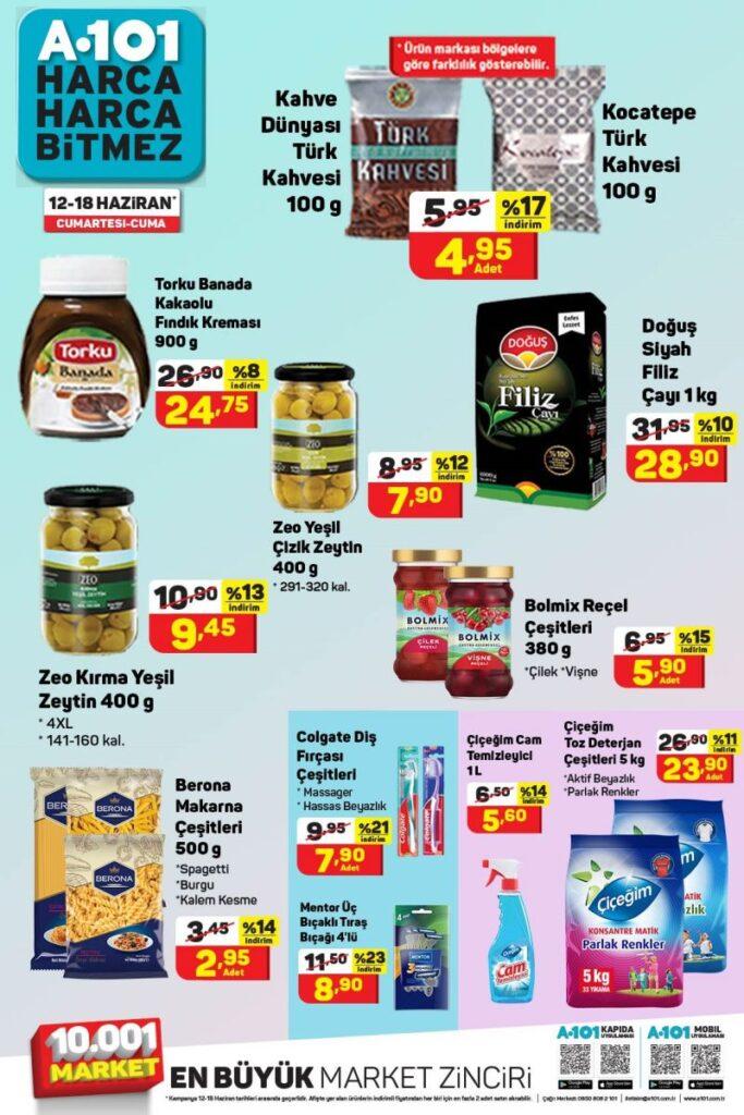 A101 12-18 Haziran Gıda Kampanya